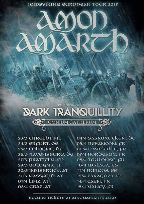 Amon Amarth - Tourtermine 2017 | RockTimes